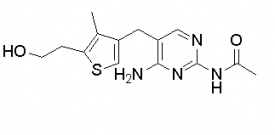 Acetamide, N-[4-amino-5-[[5-(2-hydroxyethyl)-4-methyl-3-thienyl]methyl]-2-pyrimidinyl]-