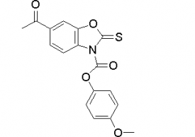 4-methoxyphenyl 6-acetyl-2-thioxobenzo[d]oxazole-3(2H)-carboxylate